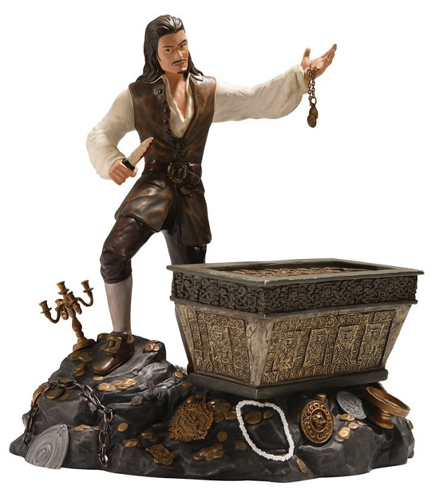 WDCC Disney Classics Pirates Of The Caribbean Will Turner And Treasure Chest Bloodstained Bravado
