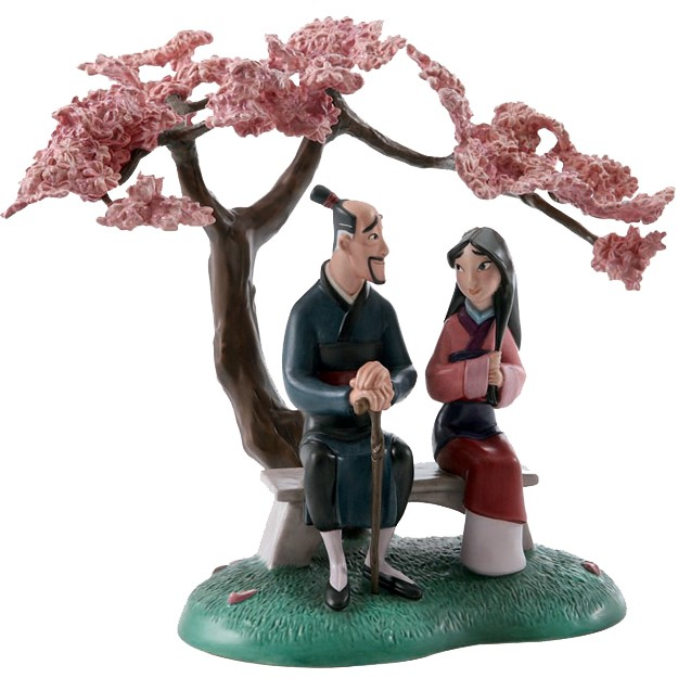 WDCC Disney Classics Mulan And Father When It Blooms It Will Be The Most Beautiful Of All