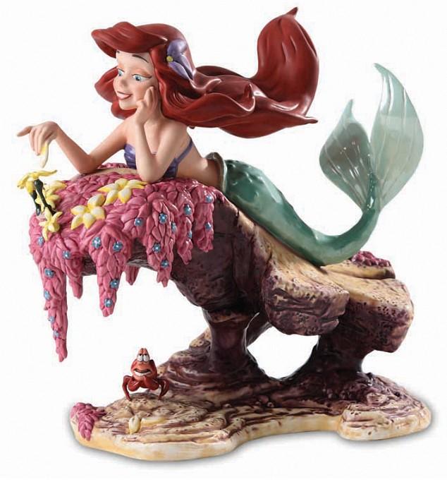 WDCC Disney ClassicsThe Little Mermaid Ariel and Sebastian He Loves Me, He Loves Me Not