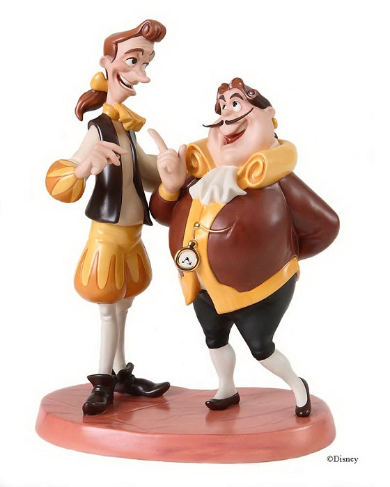 WDCC Disney Classics Beauty And The Beast Cogsworth & Lumiere