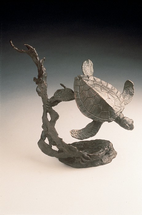 Mark Hopkins Sea Turtle Bronze Sculpture