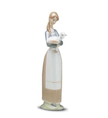 LladroGirl With Lamb 1969-01Porcelain Figurine