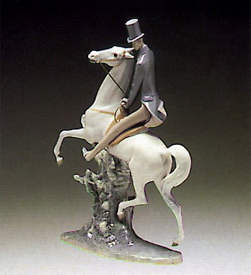 LladroMan On Horse 1969-85Porcelain Figurine