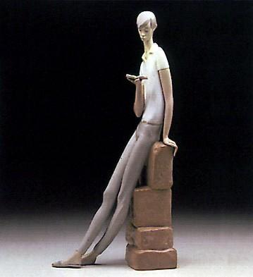 LladroBoy Student 1969-78Porcelain Figurine