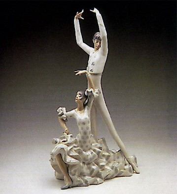 Lladro Flamenco Dancers 1969-93 Porcelain Figurine