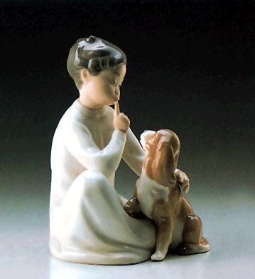 LladroBoy With Dog 1970-97 Porcelain Figurine