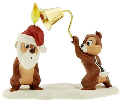 WDCC Disney Classics Plutos Christmas Tree Chip N' Dale (1997) Includes Santa