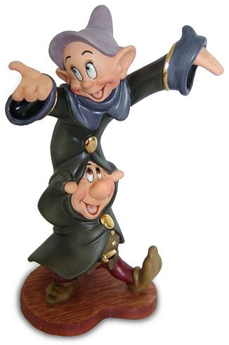 WDCC Disney Classics Snow White Dopey And Sneezy Dancing Partners