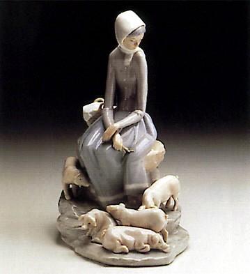LladroShepherdess With Ducks 1969-93