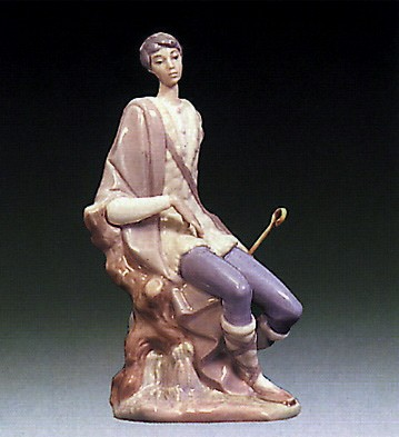 Lladro New Shepherd 1969-83 Porcelain Figurine