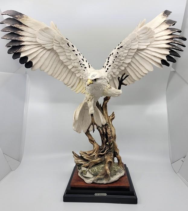 Giuseppe ArmaniWhite Hawk Signed By Giuseppe Armani