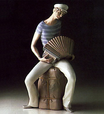 LladroSailor Accordian Player 1969-78Porcelain Figurine