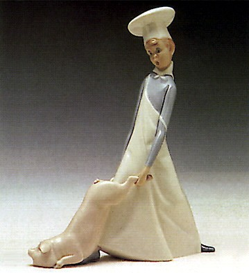 Lladro Cook in Trouble 1969-85 Porcelain Figurine