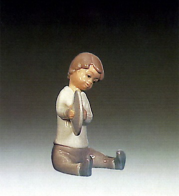 Lladro Boy With Cymbal 1969-79 Porcelain Figurine