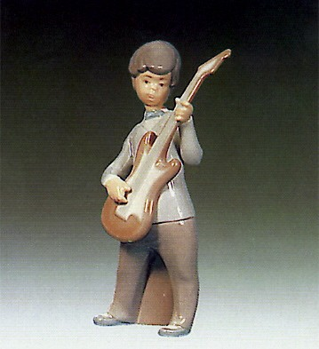 Lladro Boy With Guitar 1969-79 Porcelain Figurine