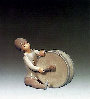 Lladro Boy Playing Drum 1969-79 Porcelain Figurine
