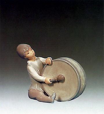 LladroBoy Playing Drum 1969-79Porcelain Figurine