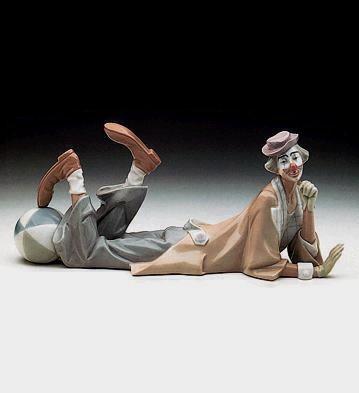 LladroClownPorcelain Figurine