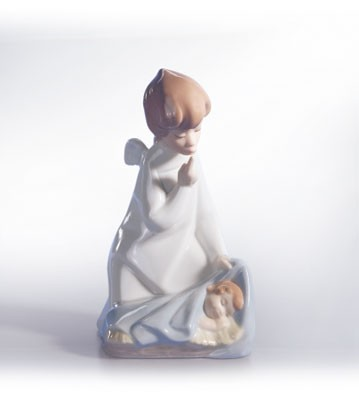 Lladro Angel With Child 1969-02 Porcelain Figurine