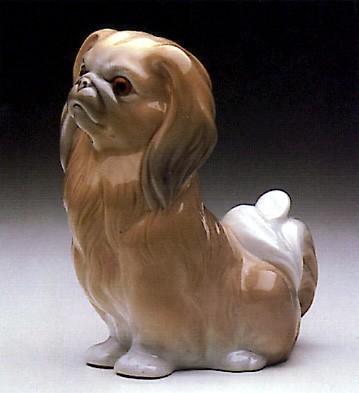 LladroPekinese Sitting 1969-85Porcelain Figurine