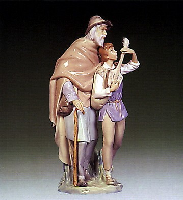 Lladro Happy Travellers 1969-78 Porcelain Figurine