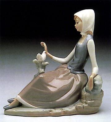 LladroShepherdess with Dove 1969-93