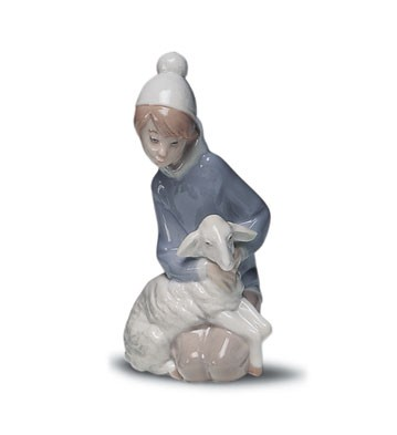 Lladro Shepherd with Lamb 1969-01