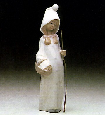 Lladro Girl With Basket 1969-01 Porcelain Figurine
