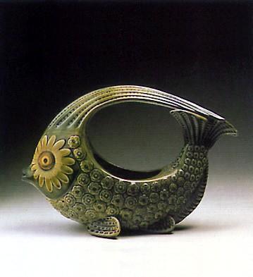 LladroFish Centerpice (green) 1970-74Porcelain Figurine