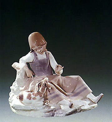 Lladro Girl with Goat 1971-78