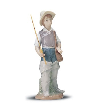 Lladro Going Fishing 1972--2001 Porcelain Figurine