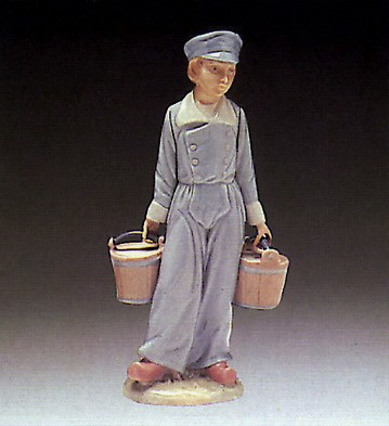 Lladro Boy With Pails 1972-88 Porcelain Figurine