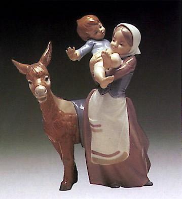 LladroDonkey Ride 1973-81Porcelain Figurine