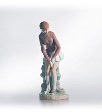 LladroLady GolferPorcelain Figurine