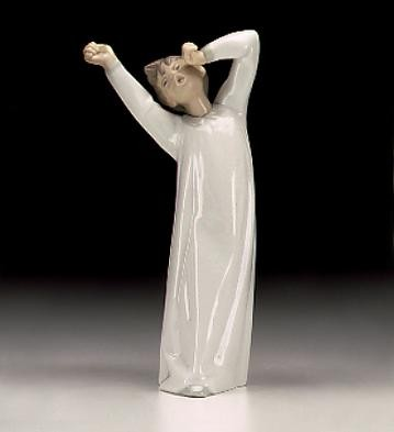 Lladro Boy Awaking Porcelain Figurine