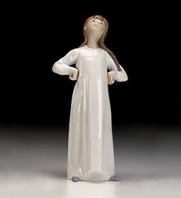 LladroGirl StretchingPorcelain Figurine