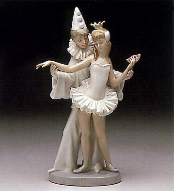 Lladro Carnival Couple 1974-95 Porcelain Figurine