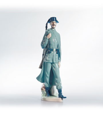 LladroSpanish Policeman 6km Marker VersionPorcelain Figurine