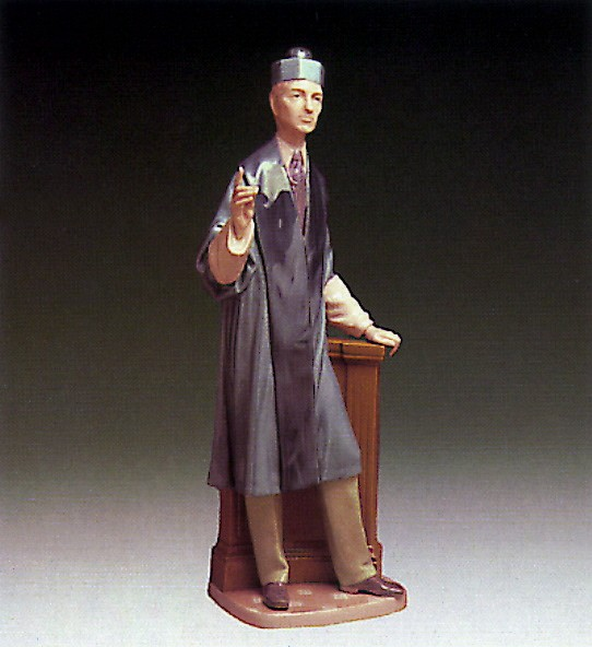 Lladro The Barrister 1974-85 Porcelain Figurine