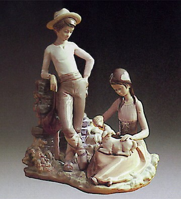 Lladro Milk for Lamb 1974-80 Porcelain Figurine