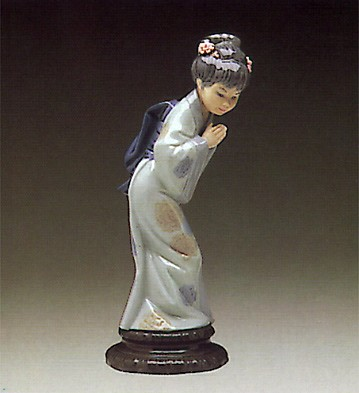 LladroSayonaraPorcelain Figurine