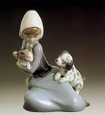 Lladro Little Friskies  1980-97 Porcelain Figurine