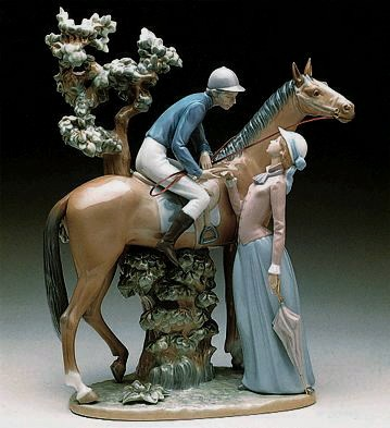 Lladro Jockey With Lass 1979-00