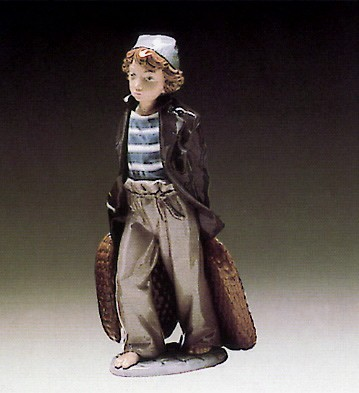 Lladro Shipboy with Basket 1980-85 Porcelain Figurine