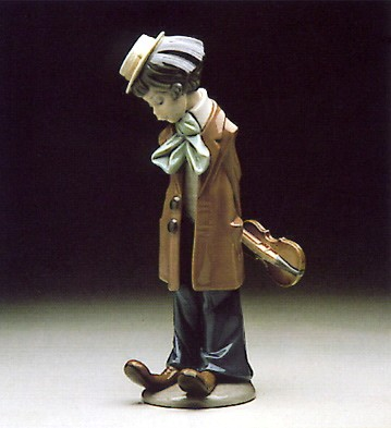 Lladro Clown with Violin 1980-85 Porcelain Figurine