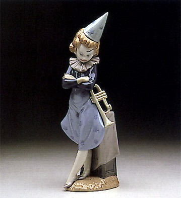 Lladro Clown With Trumpet 1980-85 Porcelain Figurine