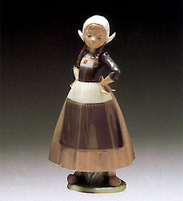 Lladro Gretel Dutch Girl 1980-85 Porcelain Figurine
