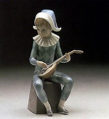 LladroHarlequin Letter A 1980-85Porcelain Figurine