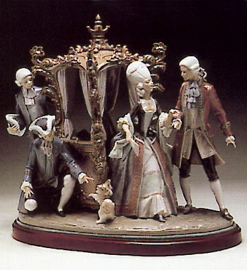 Lladro Sedan Chair Group 1980-91