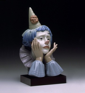 Lladro Jester with Base 1982-00
